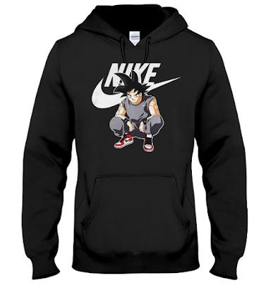 Goku Nike T Shirt Jacket Hoodie Sweater Sweatshirt Sweatshirts Sweater Hoodie Hoodies