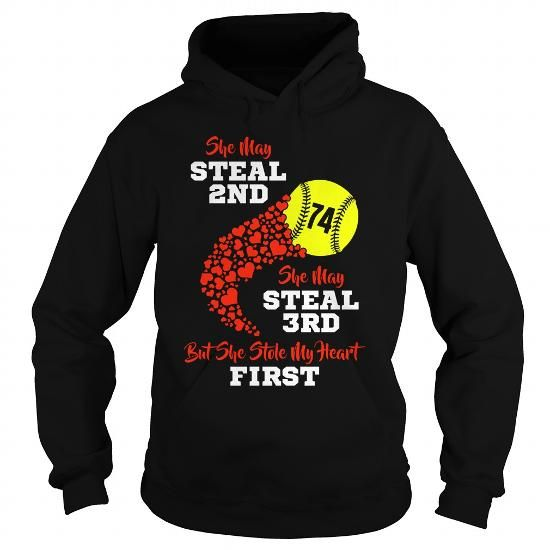 Cool Stole my heart first softball 74 Shirts & Tees
