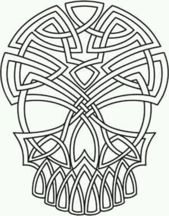 Celtic skull tattoos pinterest celtic knots for Celtic skull tattoo