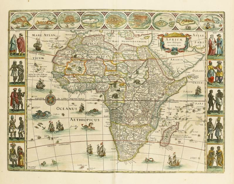 Joannes Blaeu (23 September 1596 u2013 28 May 1673), u201cAtlas Majoru201d, 1662 - copy world map africa continent