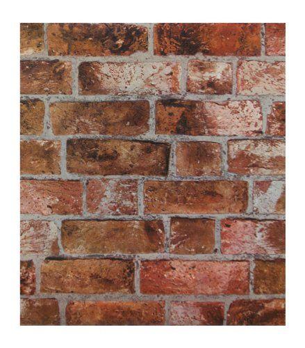 York Wallcoverings He1046 Modern Rustic Brick Wallpaper York Wallcoverings Http Www Amazo Red Brick Wallpaper Textured Brick Wallpaper Orange Brick Wallpaper