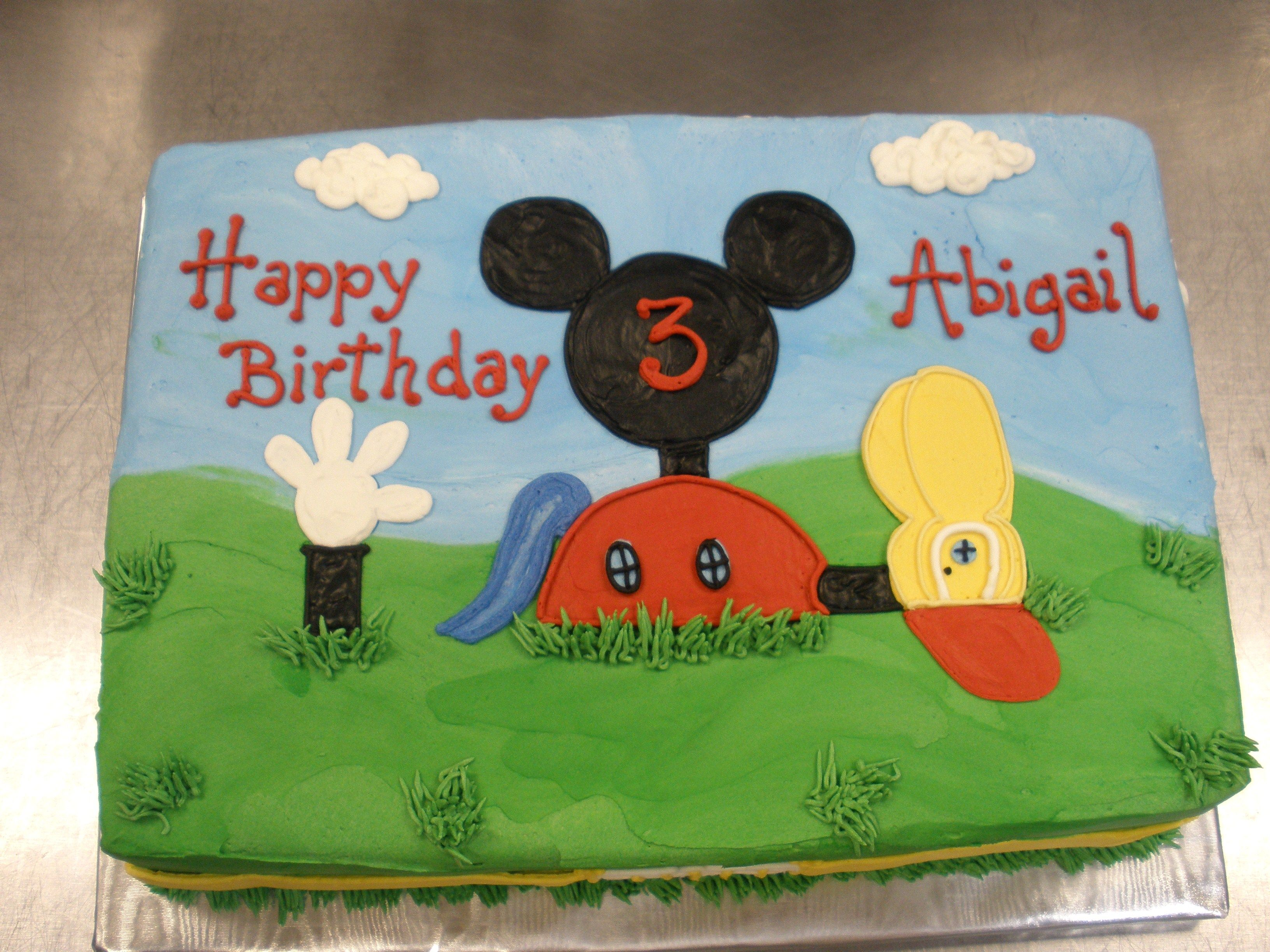 Images For Mickey Mouse Sheet Cake Mickey Mouse Clubhouse Cake