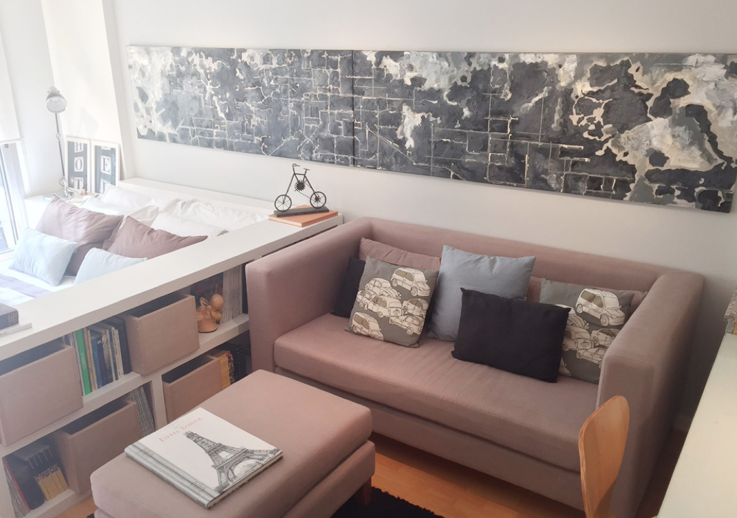 Cocina, salón, comedor y dormitorio en 32 m2 | Salon comedor, Metro ...