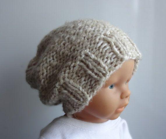 d869c9c3034 Baby winter hat - Photo Prop Hat - Newborn Hipster Hat - Slouch Baby ...