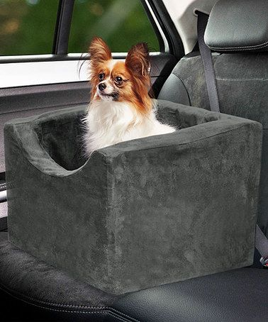 Another great find on #zulily! Gray Foam Pet Car Booster #zulilyfinds