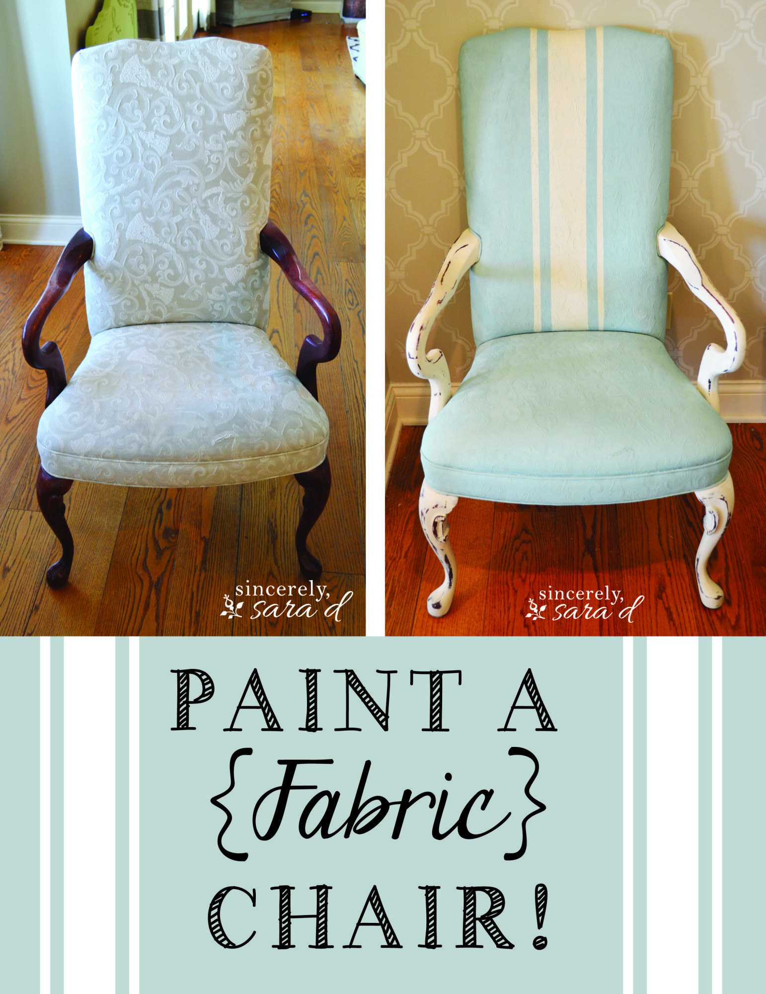Paint a Fabric Chair with Chalk Paint #paintfabric