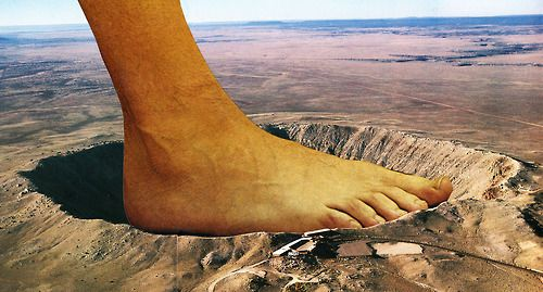 put your foot in it #collage