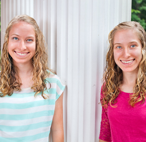 Co-valedictorians, identical twins Amy and Becky Gessler, co-wrote and co-delivered their valedictorian speech. They will attend different colleges in the fall.