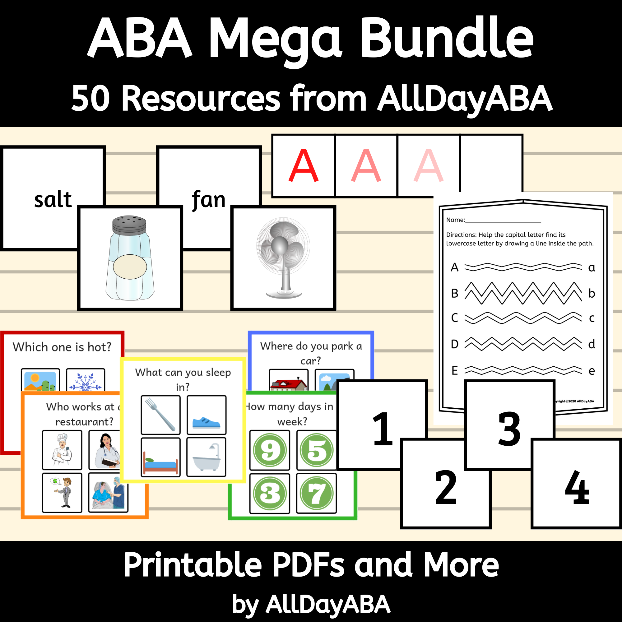 Aba Worksheets Aba Therapy Aba Printables Aba Flash