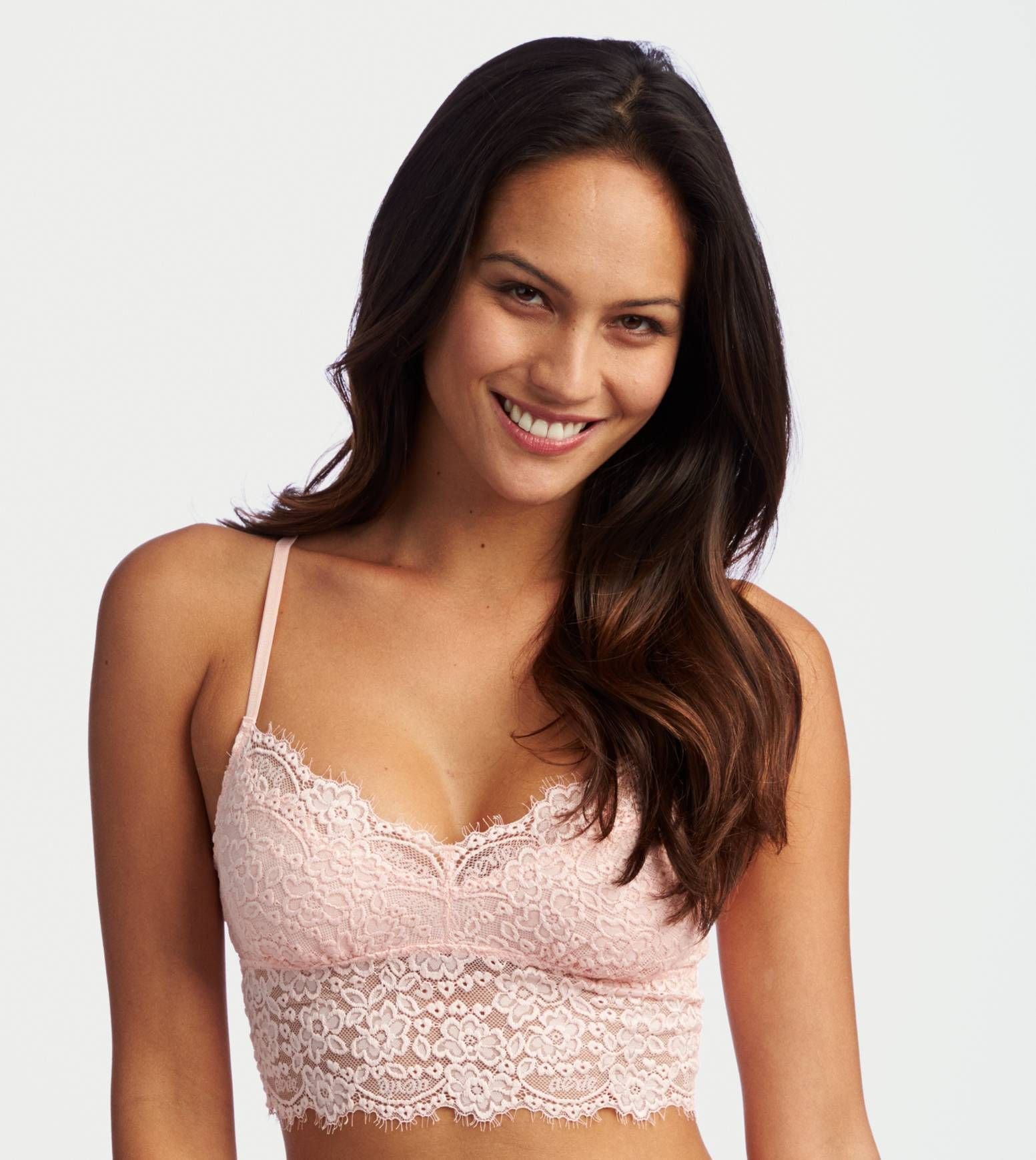 1e8dd54a69f41 Peach Wash Aerie Romantic Lace Bralette - Softest lace in a pretty shape!   Aerie