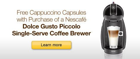 Free Cappuccino with Purchase of a Nescafe Dolce Gusto Piccolo Single-Serve Coffee Brewer