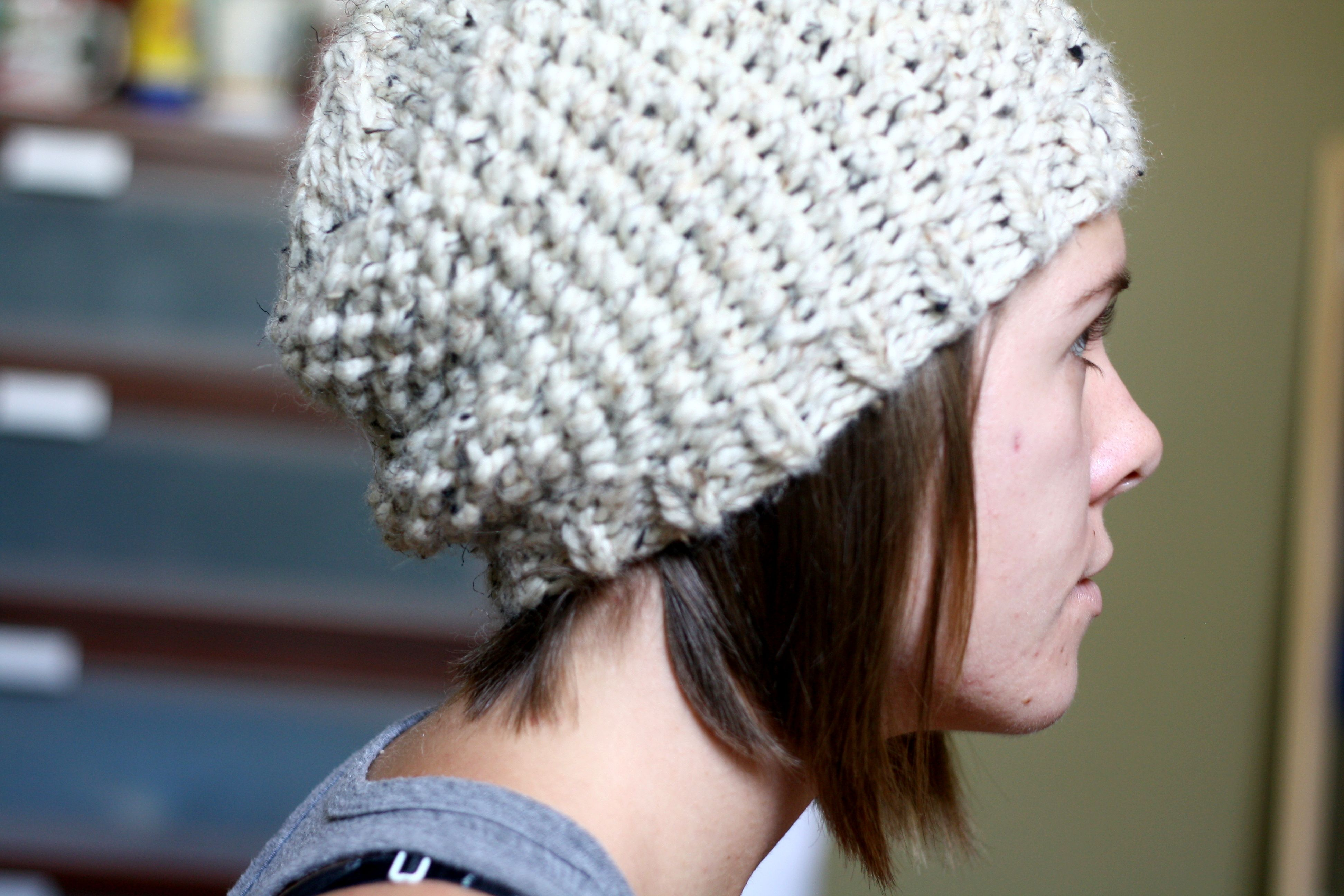 Brandy Melville Inspired Chunky Beanie   Beanie pattern, Knitted hat ...