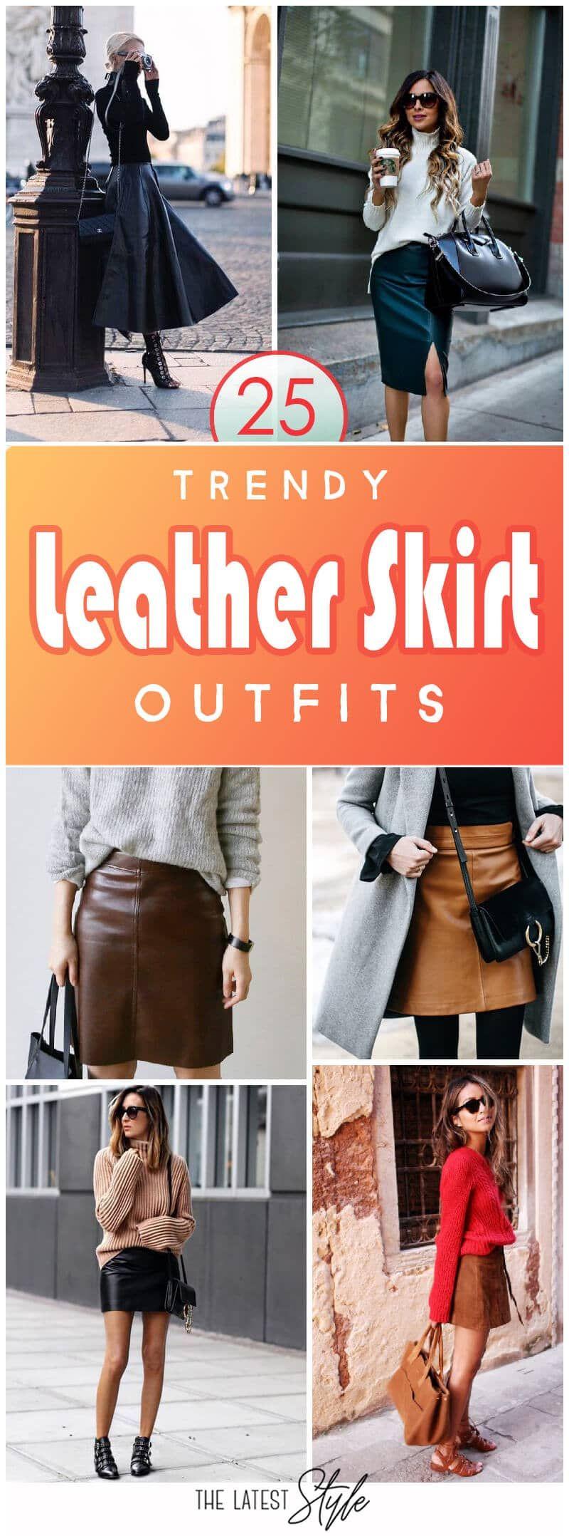 25 trendige Lederrock-Outfits für saisonale Stylistas #trendyoutfits