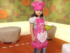Ceci EuQfiz: Avental e chapéu de cozinheiro