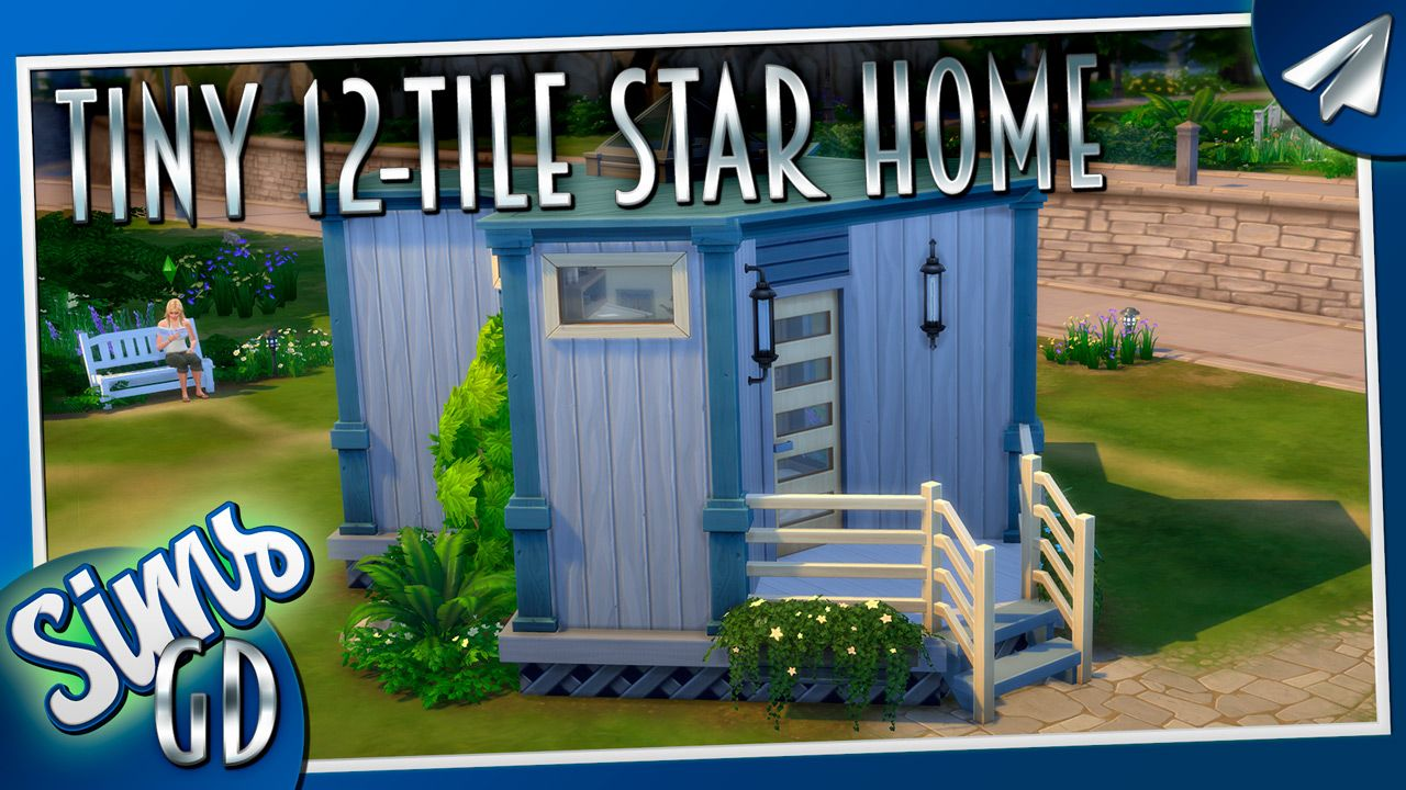 This Sims4 Tiny Home Covering 12 Tiles Is Partly A