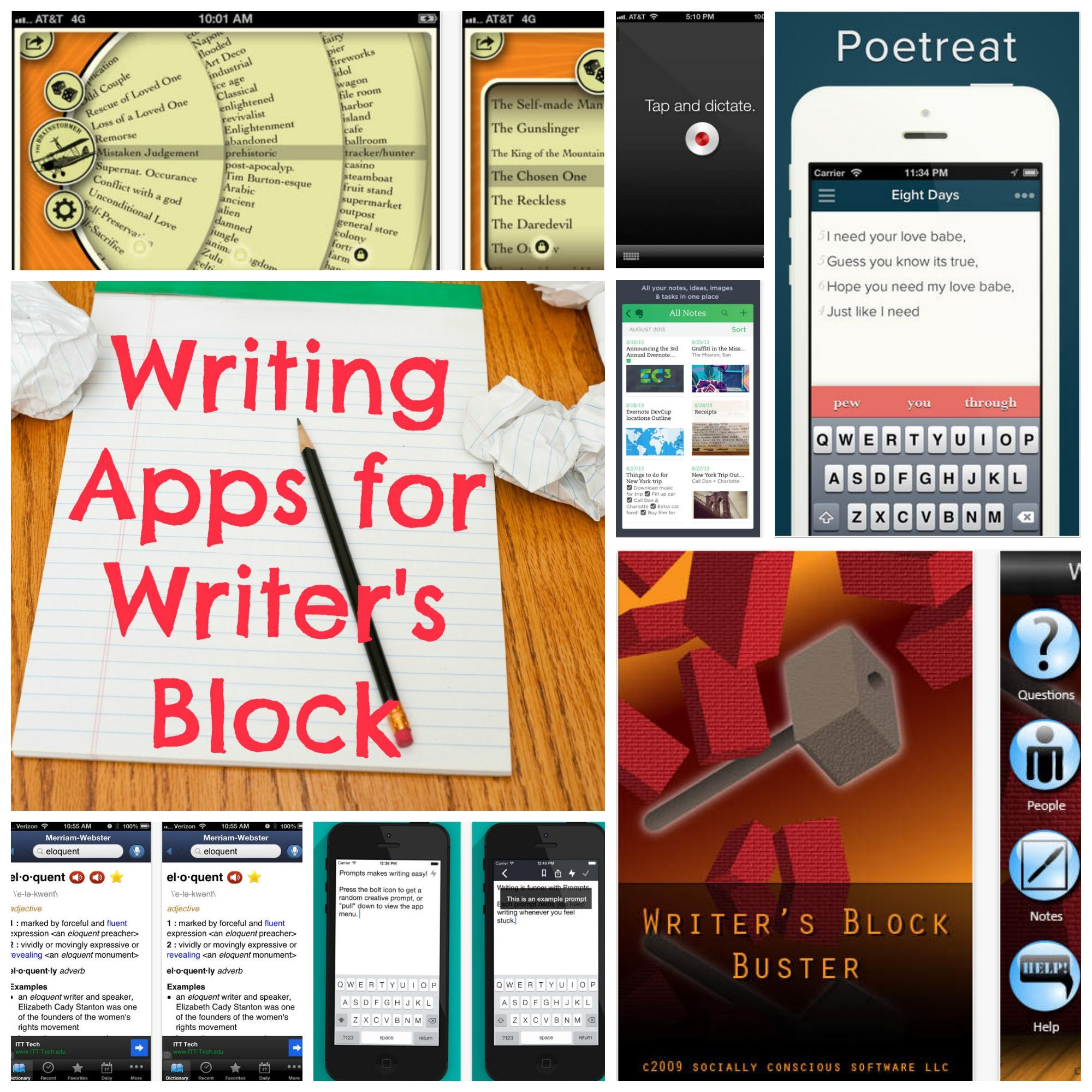 apps to help writers block About the show online created by david benjamin tomlinson and matt watts and starring aurora brown e (baroness von sketch show) , the writers' block is a 10-episode cbc original series following three writers struggling to write a television series while the narrative of their own lives spin out of control.