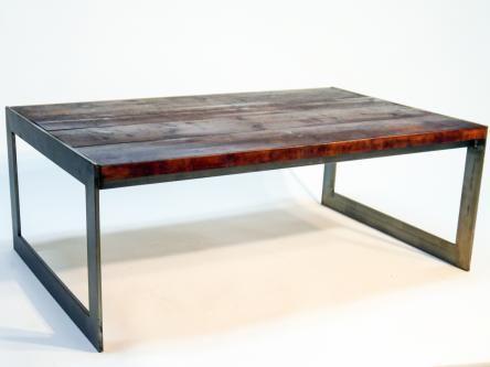 mesa de centro madera envejecida reciclada
