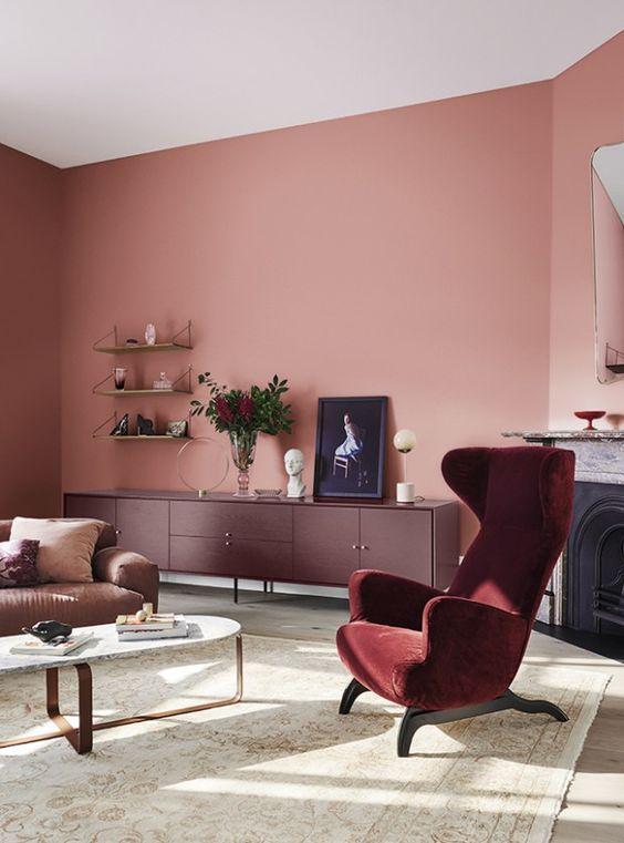 Ruby Wine Color Home Decor Inspirations Living Room Paint Paint Colors For Living Room Living Room Decor #wine #color #living #room