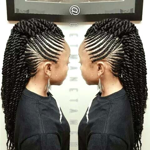 Unique Braided Mohawk Hairstyles Tumblr Black Mohawk Braid Hairstyles 2014 Mohawk Braid Hairst Braided Mohawk Hairstyles Cornrow Hairstyles Natural Hair Styles
