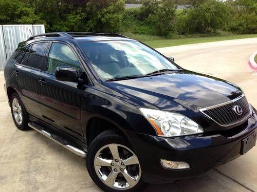 2005 Lexus Rx330 Black/Tan SUV Chrome Wheels No Accidents