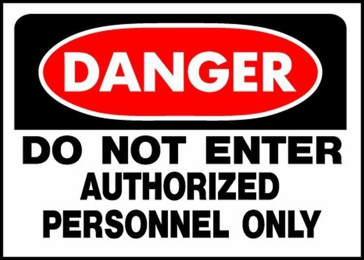Hyko products danger do not enter authorized personnel