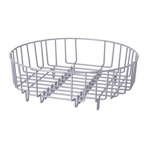 Heavy Duty Steel 37cm Dia Round 2 In 1 Dish Drainer Rinsing Basket Silver