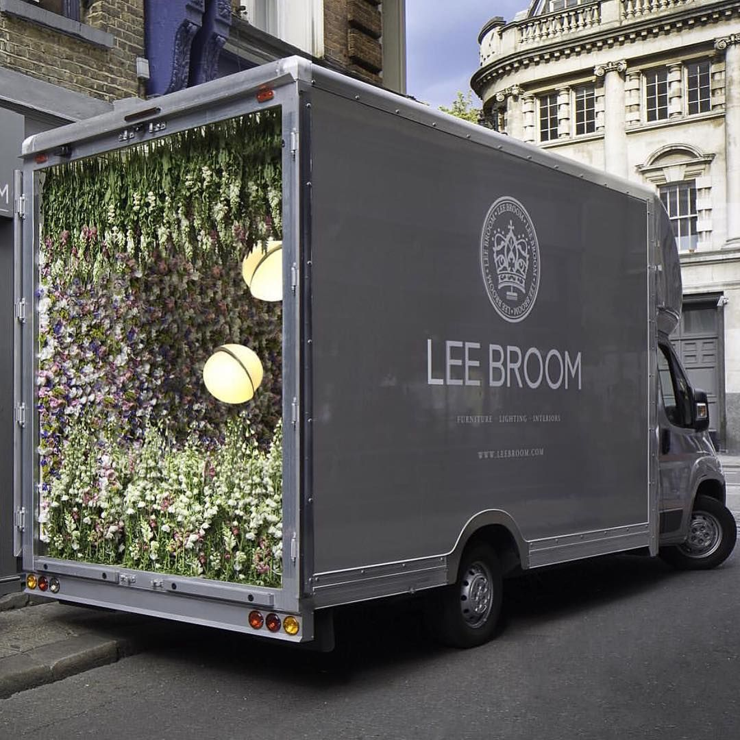 English designer Lee Broom launching his new range of vases with a clever installation on the streets of London. #thecoolhunter #leebroom
