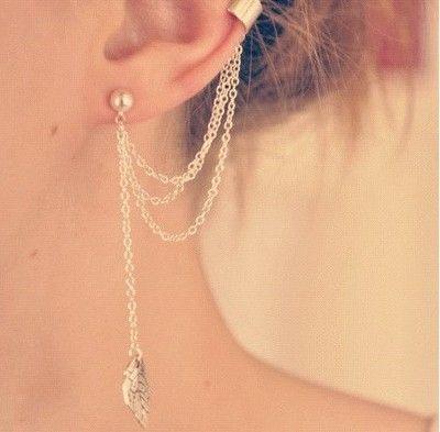 Kolczyk Kolor Srebrny B Dlugi Piorko Nausznica 6851664258 Oficjalne Archiwum Allegro Ear Cuff Jewelry Long Statement Earrings Ear Cuff Earings