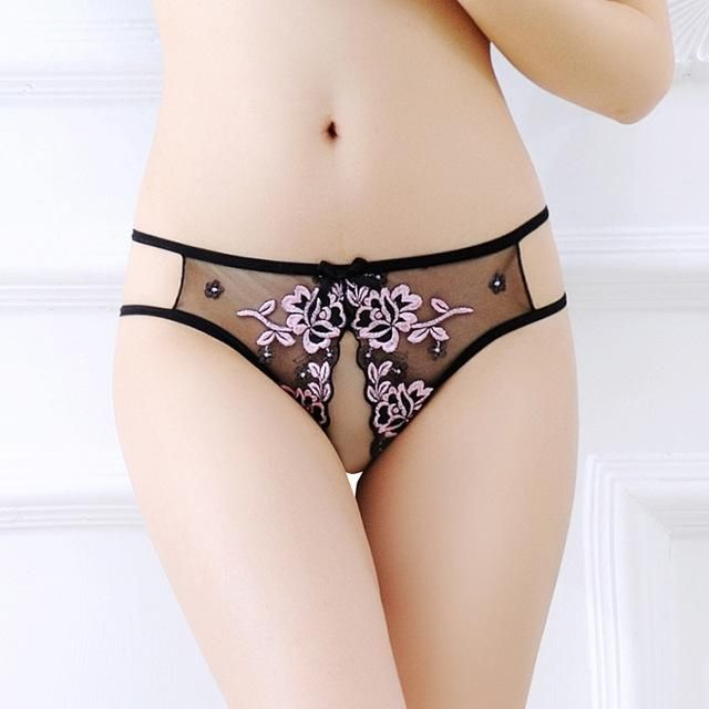 d9776801b0b Hot Ultra-thin Women s G-string Embroidery Thong Transparent Sexy Panties  Underwear girl Cotton Lace Briefs female Intimates