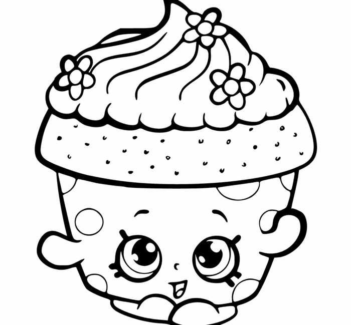 Printable Cupcake Coloring Pages Cupcake Coloring Pages Shopkins Colouring Pages Easy Coloring Pages