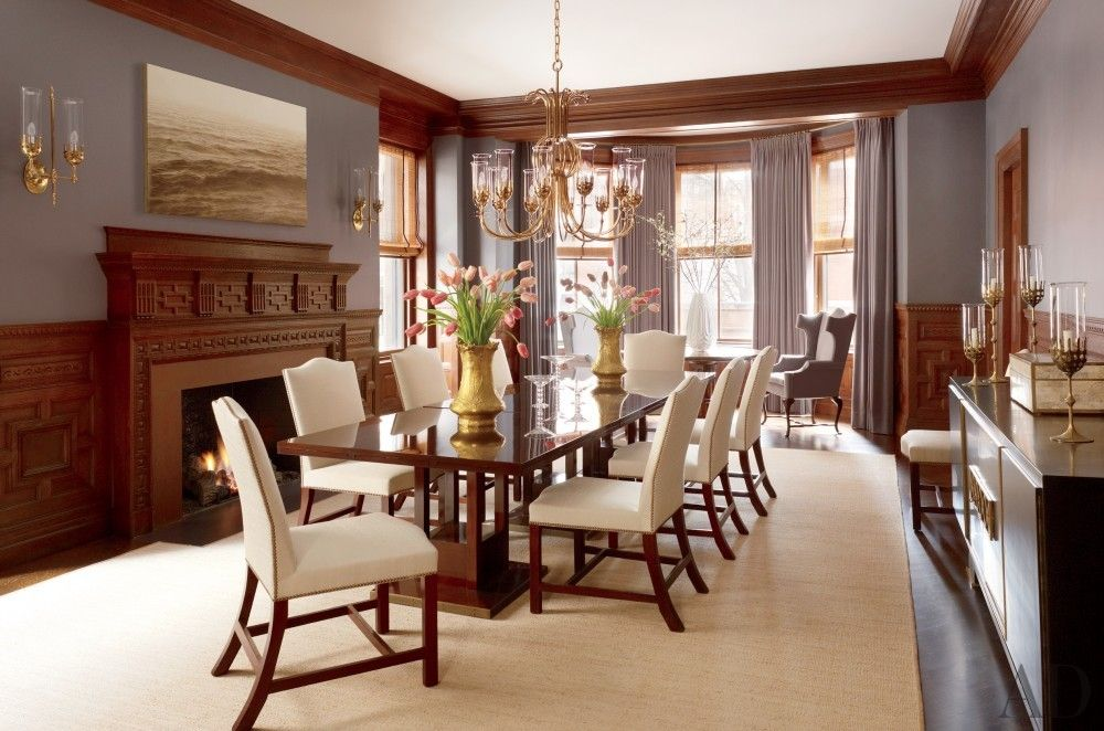 TRADITIONAL DINING ROOM BY THAD HAYES INC In A Boston Residence George III Chairs