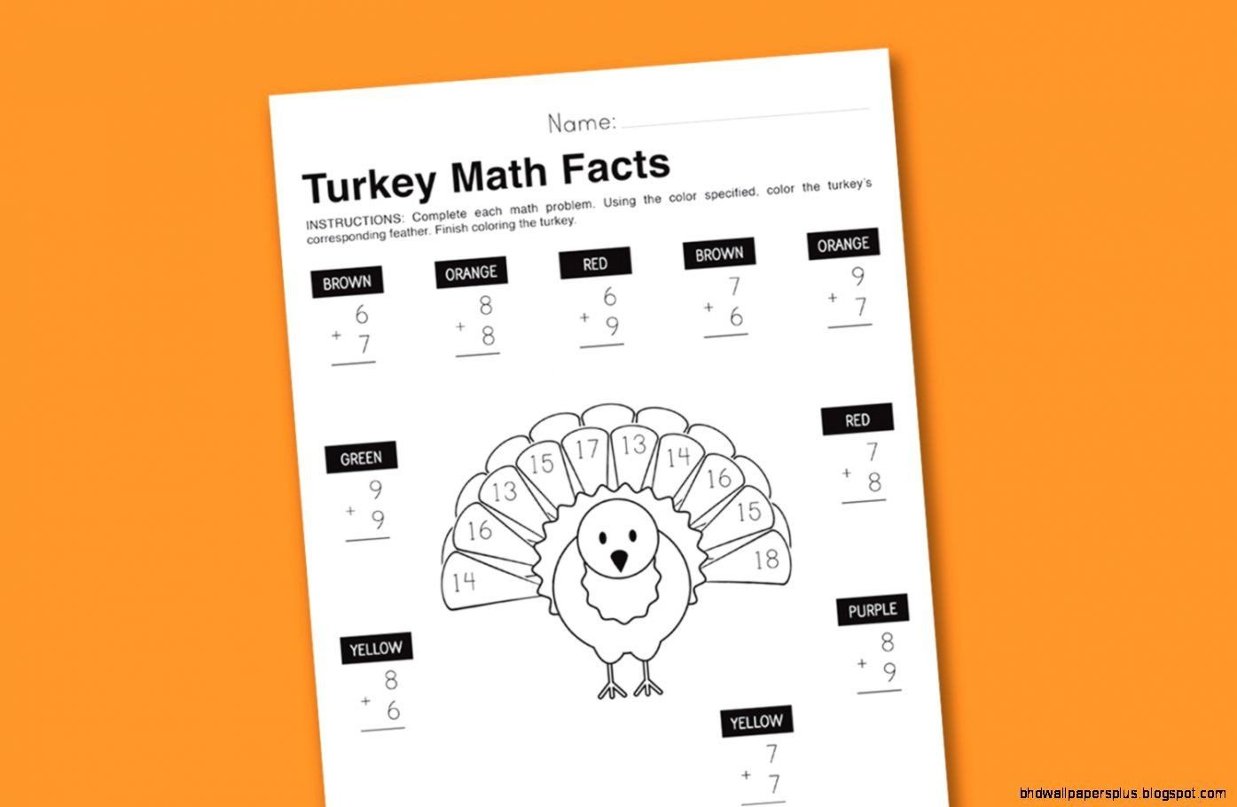 Thanksgiving Math Worksheets 4th Grade 3rd Grade