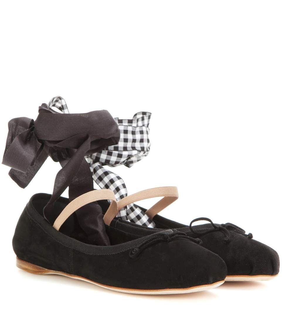 Miu Miu Suede ballerinas Cheap Sale Big Sale Cheap Sale Exclusive Get Authentic Sale Online Browse imGTrbGk