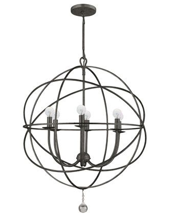 Wrought Iron Sphere Chandelier Orb