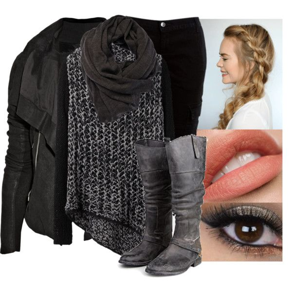 Catching Fire: Outfit Nine-Juniper Everdeen by demiwitch-of-mischief on Polyvore featuring polyvore, fashion, style, Helmut Lang, Rick Owens, Joie, Golden Goose, Cheap Monday and clothing