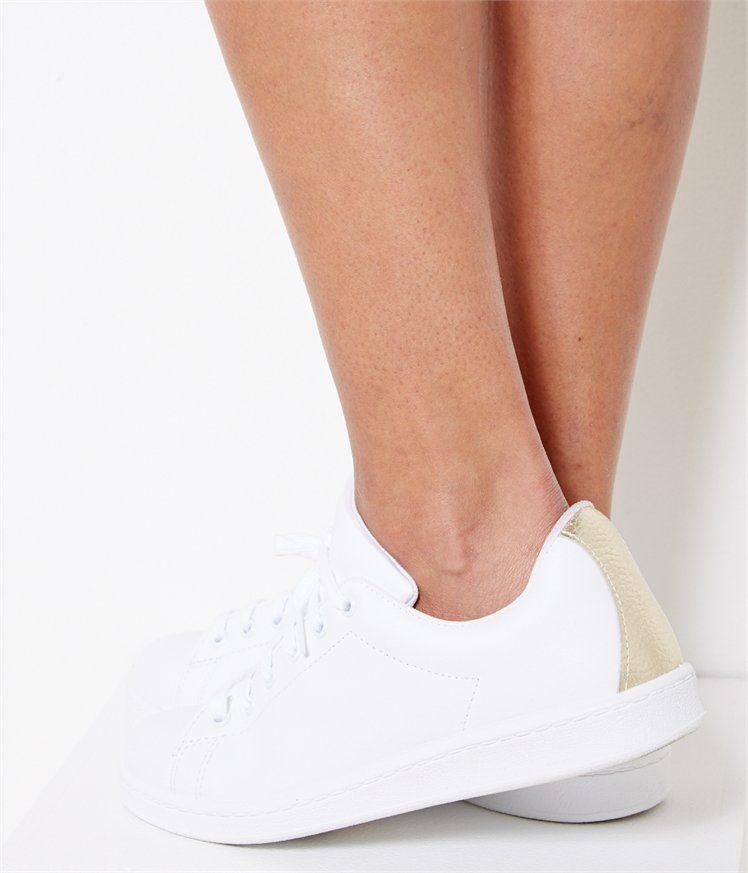 bc1052e9bc1 Vente Baskets blanche femme Blanc T37 - Chaussure Camaieu. La basket ...