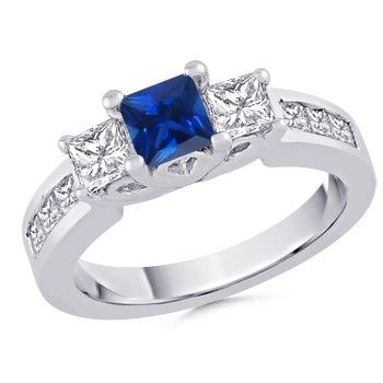 Angara Semi Eternity Tanzanite Diamond Ring in Platinum RIUoXjl2e