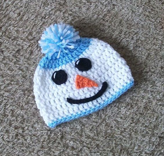Snowman Beanie Hat Size Newborn Or 36 Months By