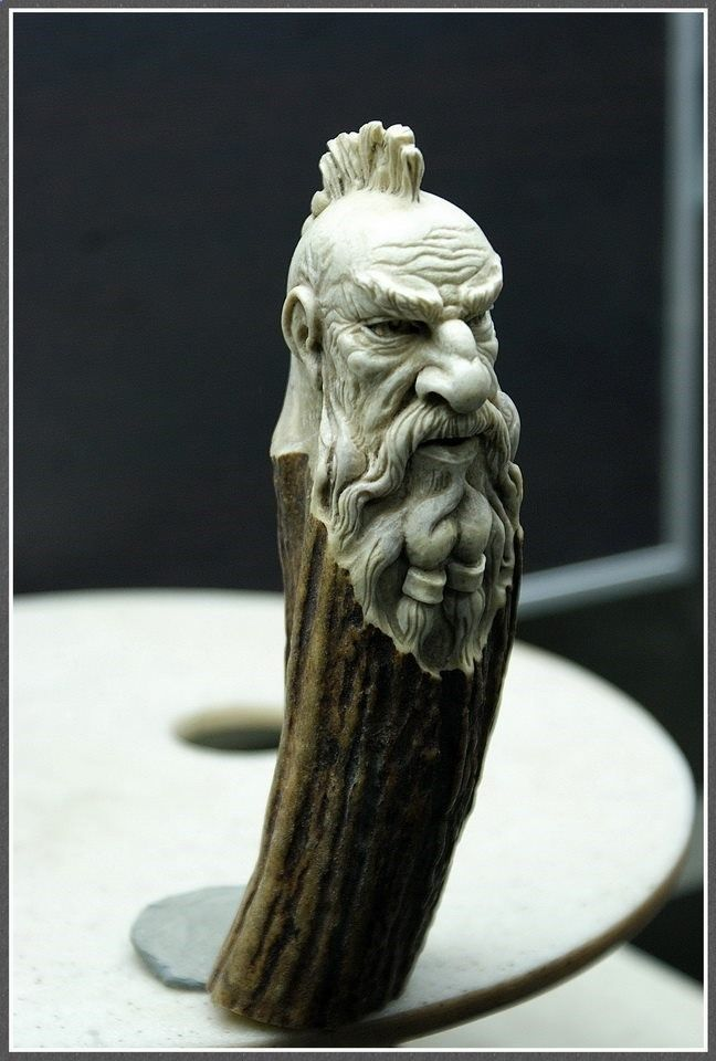 Andrej Sagalov Wood Carving Art Skull Carving Bone Carving