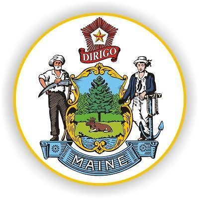 Maine State Seal Decals Stickers