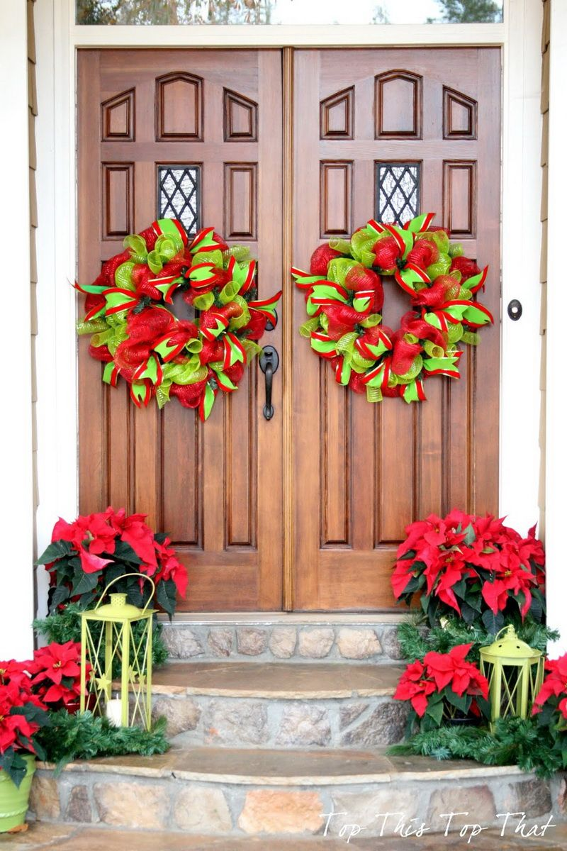 50 Best Christmas Door Decorations for 2017 🎄 | Christmas front ...