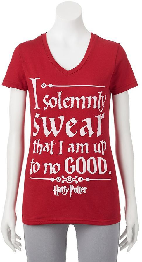 Juniors' Harry Potter ''I Solemnly Swear'' Graphic T-Shirt on sale ...