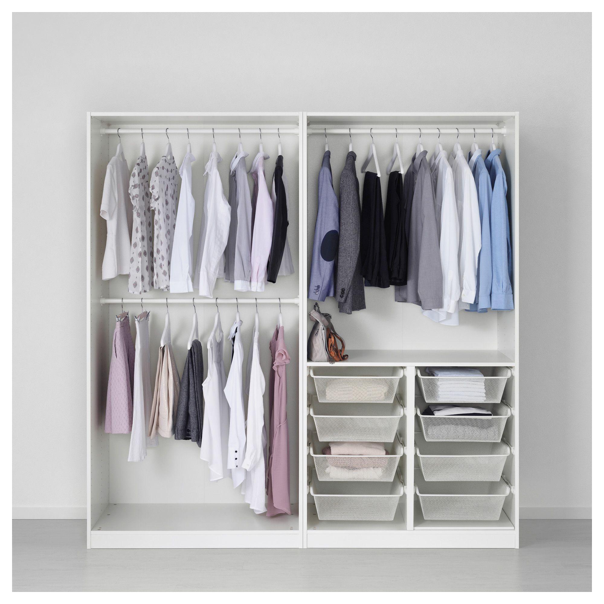 Pax Wardrobe White Tyssedal White 78 3 4x23 5 8x79 1 4