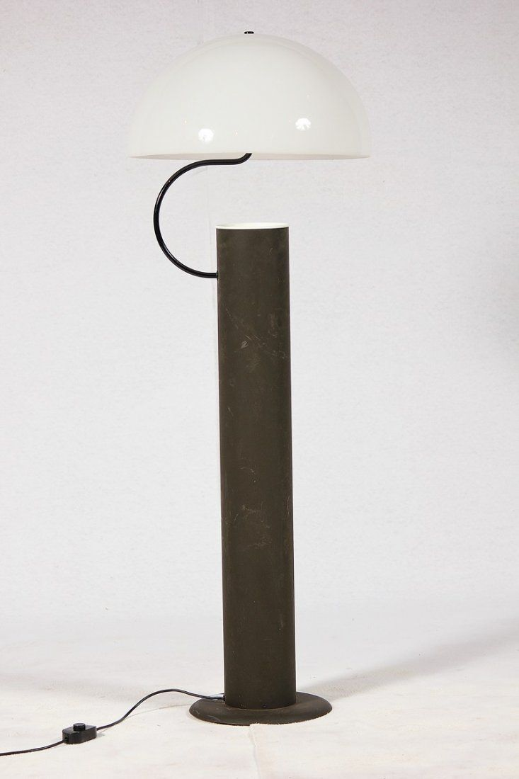 Vico Magistretti Enameled Aluminum And Plexiglass Alida Floor Lamp For O Luce 1977 Lampade Luci Design Industriale