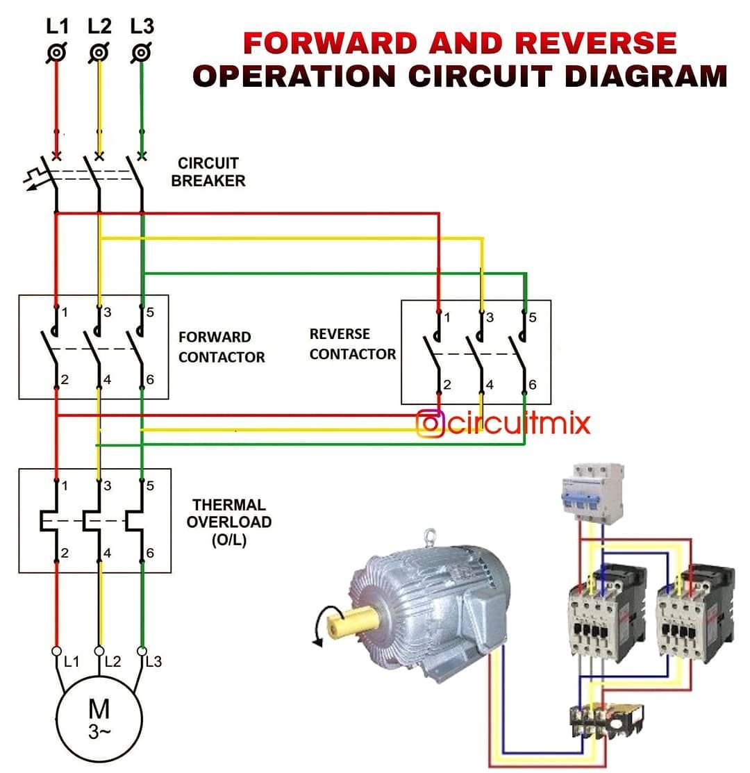 Forward Reverse Motor Starter Diagram Save This Post Share And Tag Your Friends Circuit Diagram Electrical Circuit Diagram Electrical Wiring Diagram