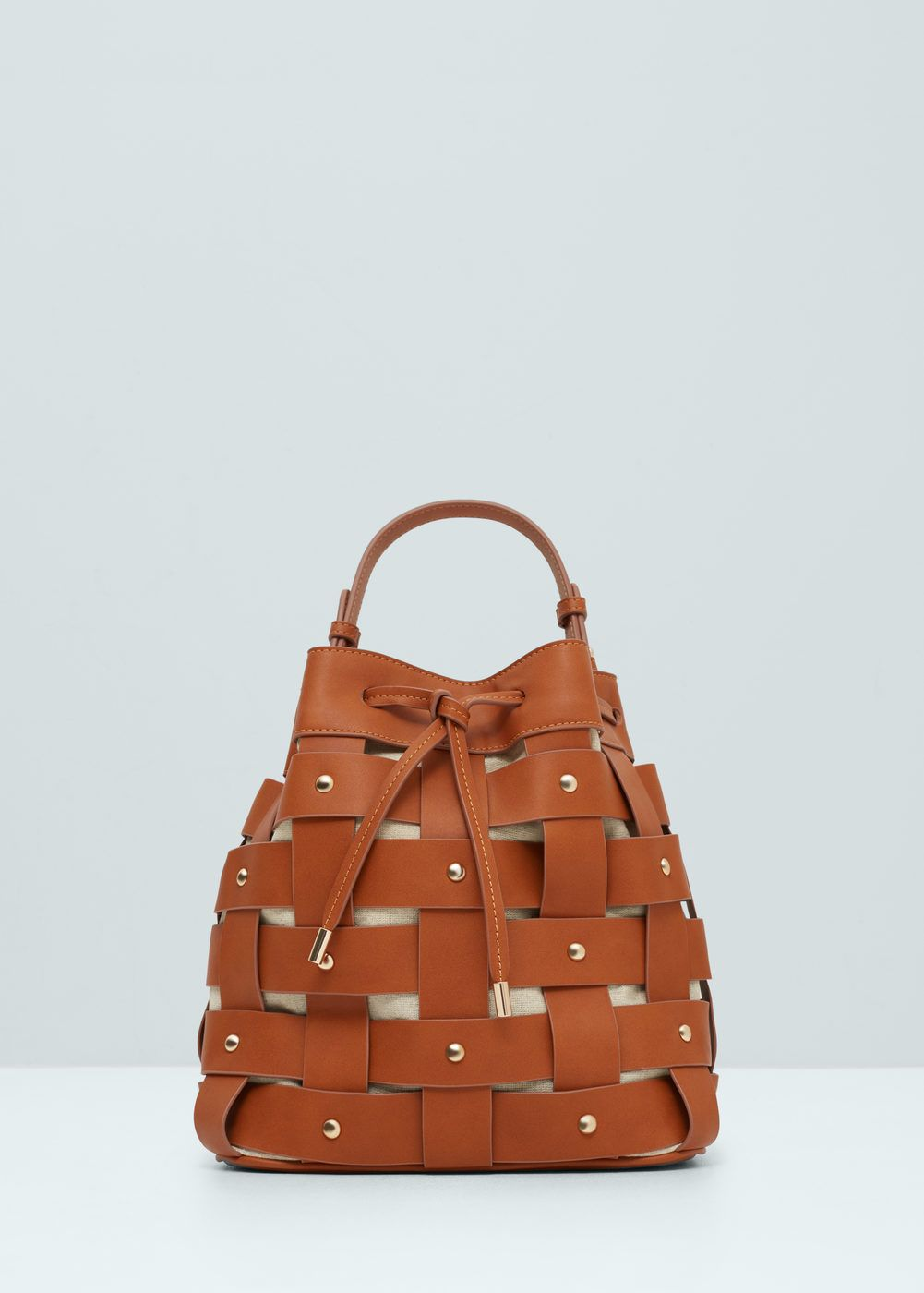Carteira saco desenho rede | MANGO