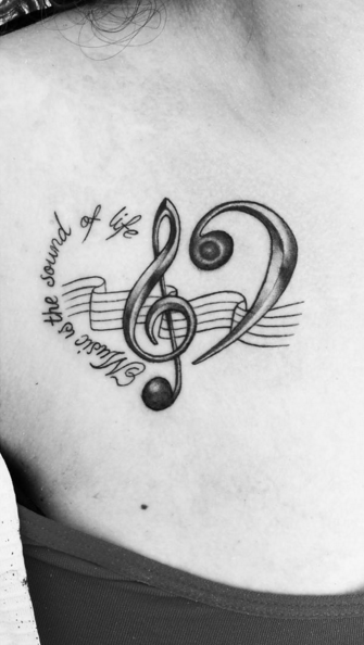 music symbol tattoo ink youqueen girly tattoos music