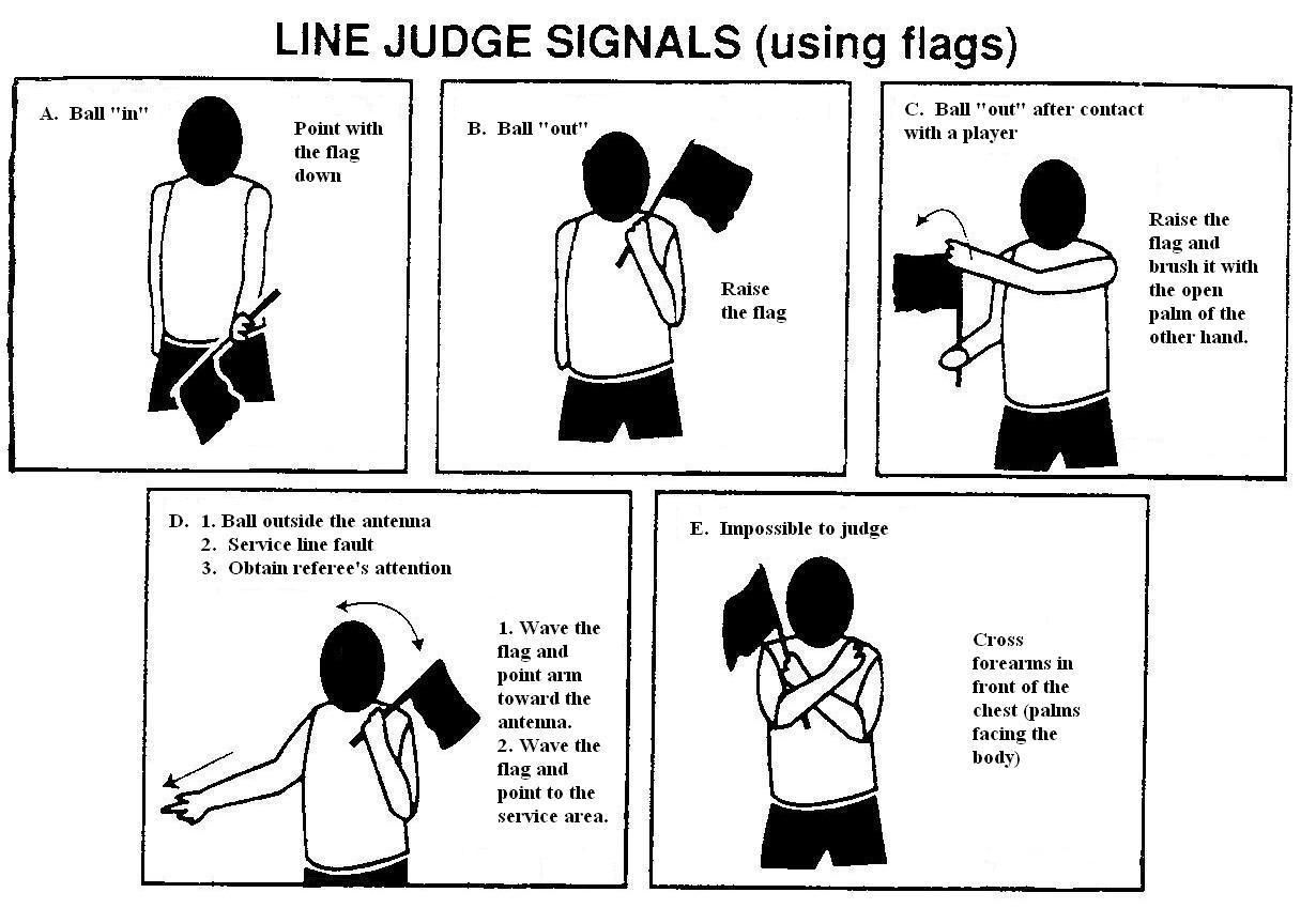 Line Judge Signals Flags Coaching Volleyball Volleyball Signal Flags