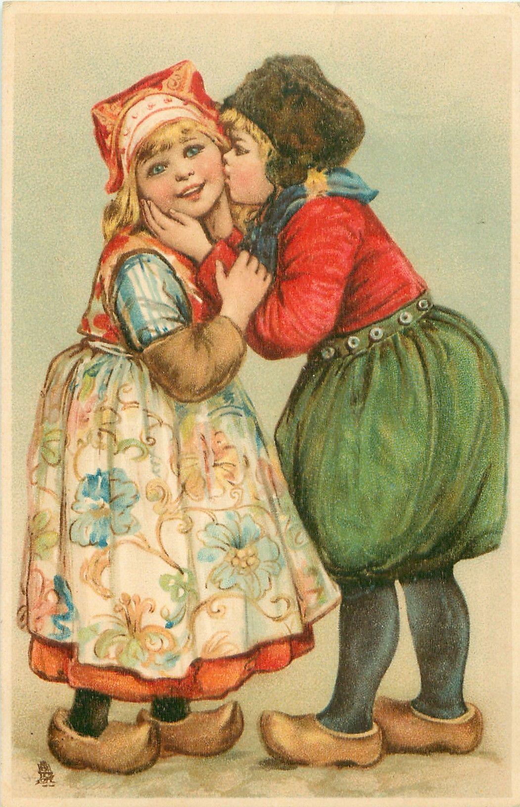 Дом картинках, старые открытки для любимой