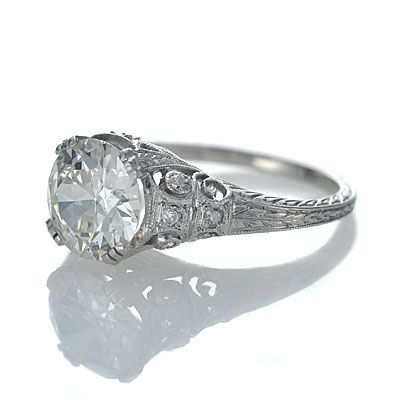 leigh jay nacht inc circa 1920s engagement ring yup single diamond with - 1920s Wedding Rings